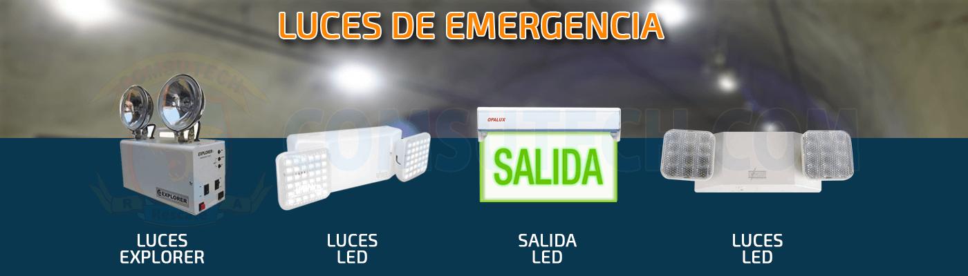 Comsutech luces de emergencia led hagroy contometro for Luces emergencia led